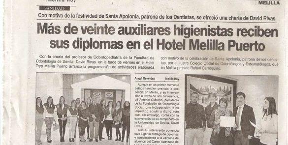 Festividad de Santa Apolonia, entrega de diplomas a auxiliares higienistas
