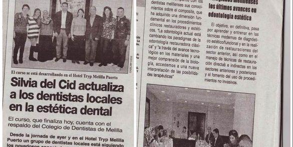 Silvia cid actualiza a los dentistas locales en la estética dental