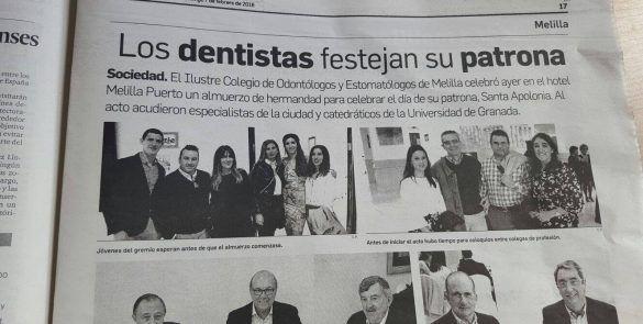 Los dentistas de Melilla festejan su patrona