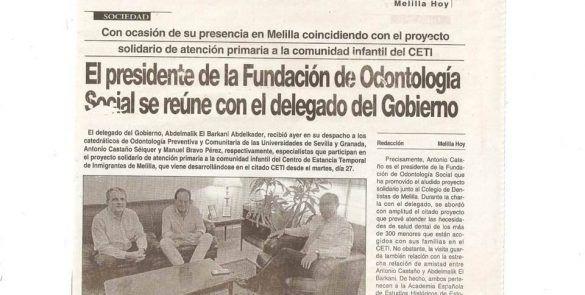 reunion fundacion odontologia social de melilla y delegado del gobierno