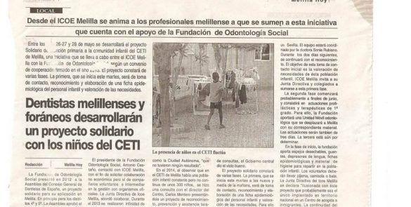 proyecto solidario las sonrisas del ceti de melilla